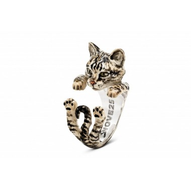 European Tiger Stripes Hug Ring