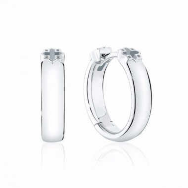 Birks Muse | 15MM Polish Silver Hoop Earrings