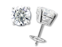 Canadian diamond studs from cjex.net