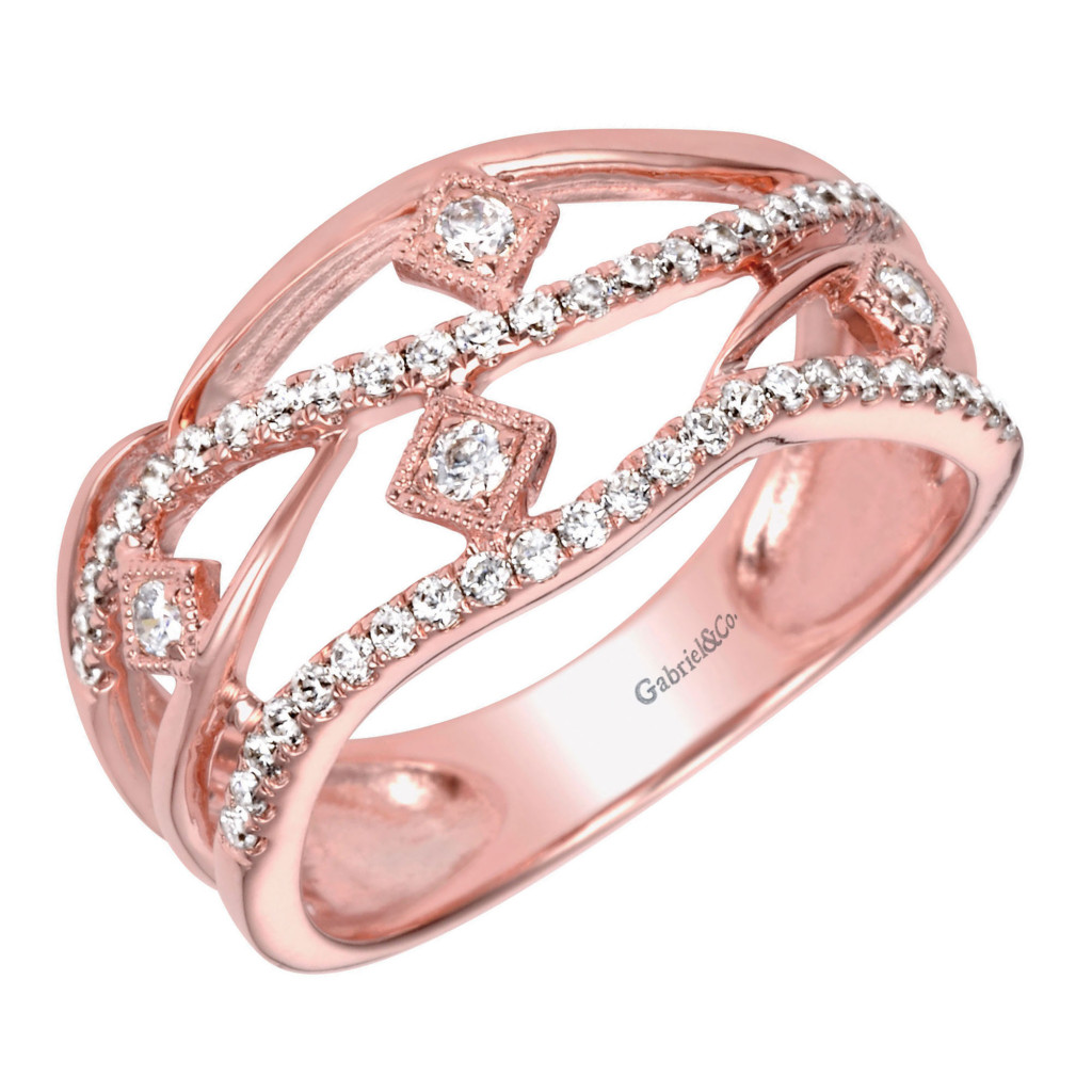 Rose Gold diamond band from cjex.net