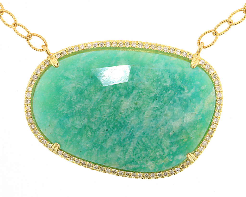 Amazonite & Diamond necklace