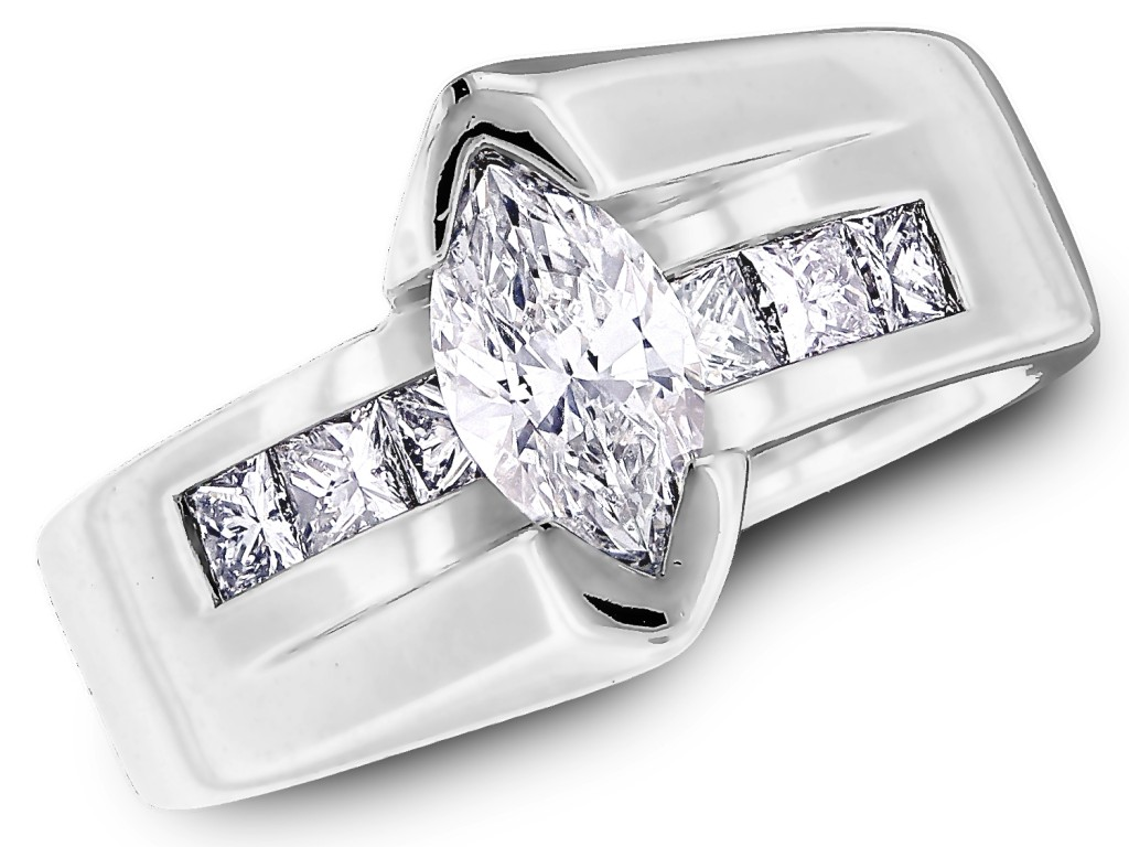 Marquise diamond engagement ring from cjex.net