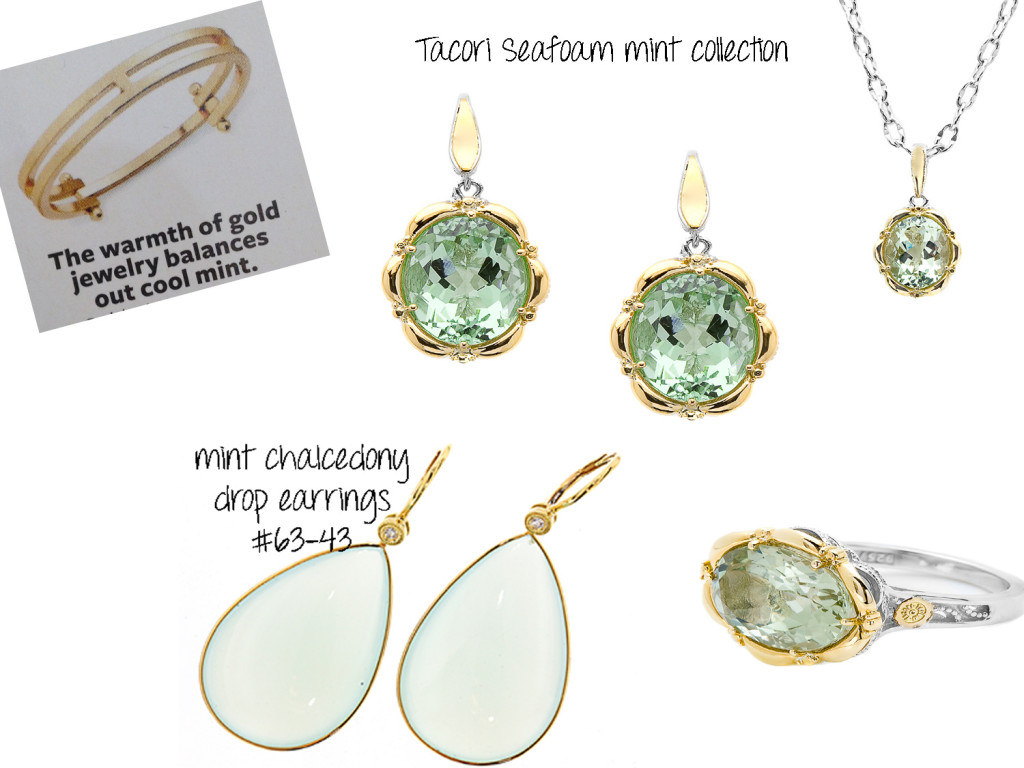 Mint gems with yellow gold from cjex.net